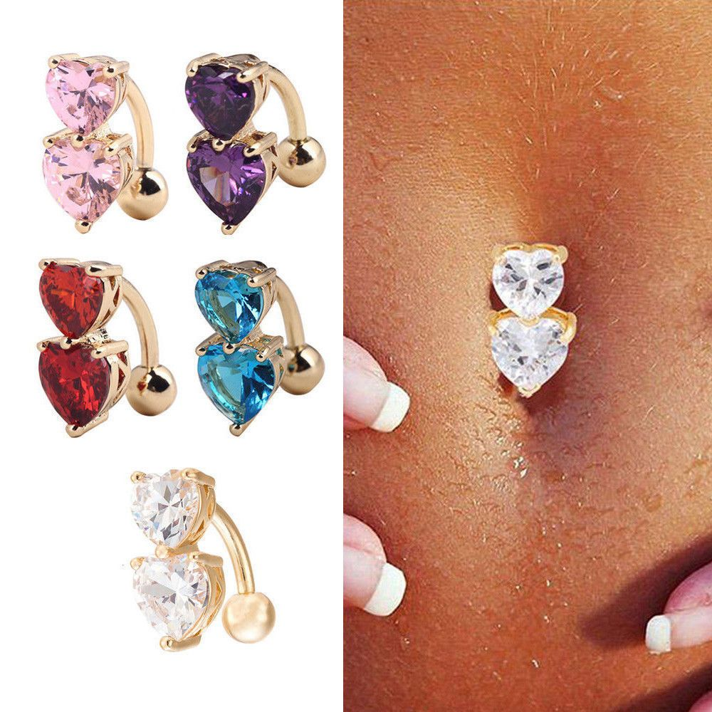 Belly piercing 2018  New in   Products  Pinterest  Body piercings Navel and Crystals