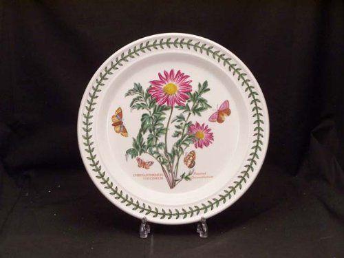 Portmeirion Botanic Garden Dinner Plates Chrysanthemum