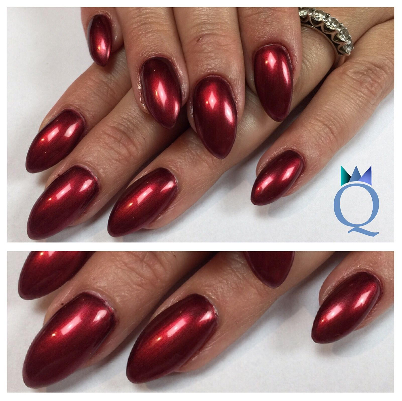 Großartig Nageldesign Rot Foto Von #almondnails #gelnails #nails #red #metallic #mandelform #gelnägel