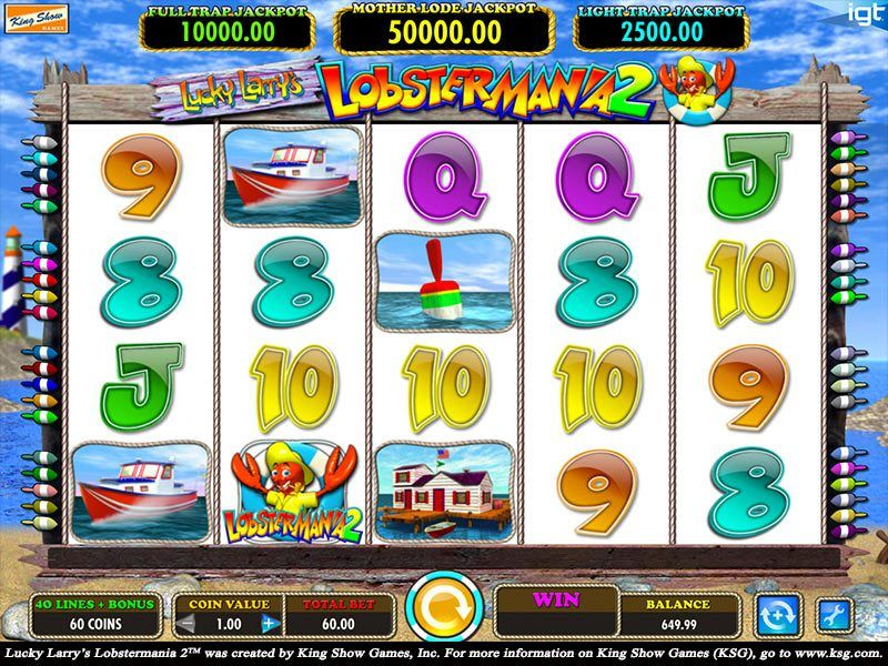 Play The No Registration Demo Of Lobstermania Slot Machine Free