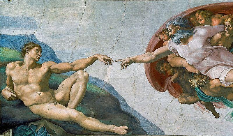 La Creación De Adán Autor Miguel ángel Buonarroti Año 1509 1512 época Renacimie Pinturas Del Renacimiento Arte Renacentista Pintura Arte Del Renacimiento