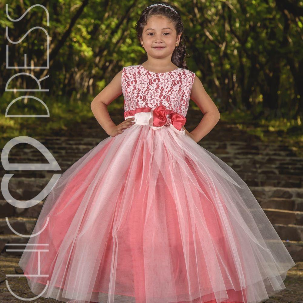 MODELO NF88-K Vestido de niña para eventos, el modelo esta compuesto ...