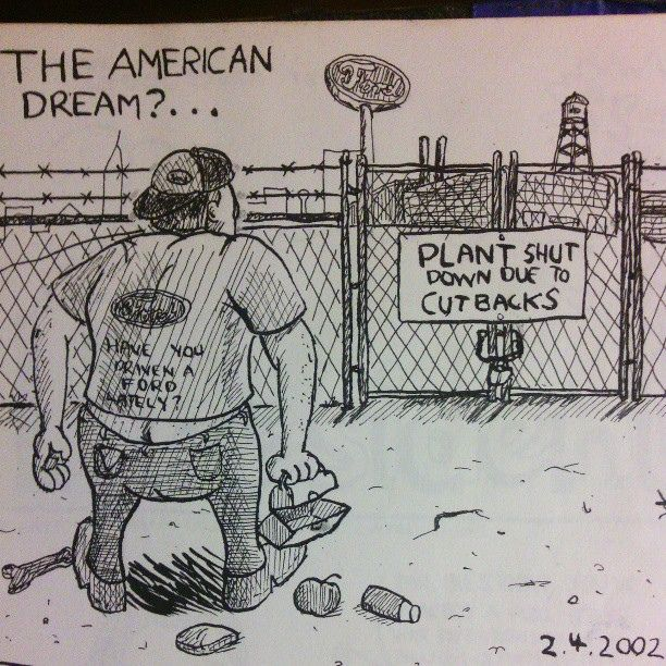 The American Dream? #Sobieniak #plant #closing #doodle #sketch #cartoon