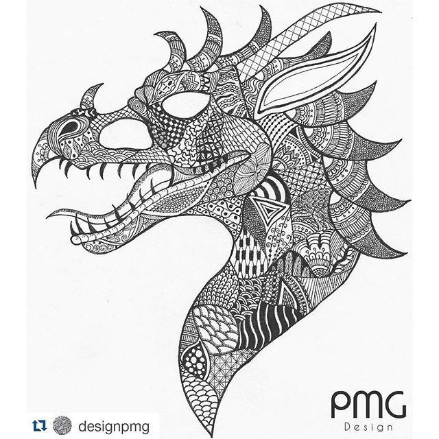 zentangle dragon  google search  zentangle animals