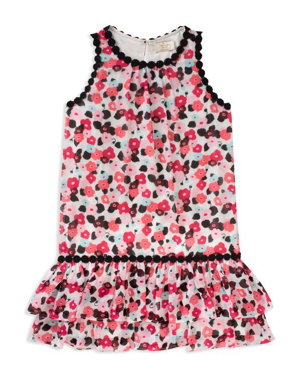 6ca408555 kate spade new york Girls' Blooming Floral Dress - Little Kid | Polyester |  Machine wash | Imported | Fits true to size | High, round neck; ...