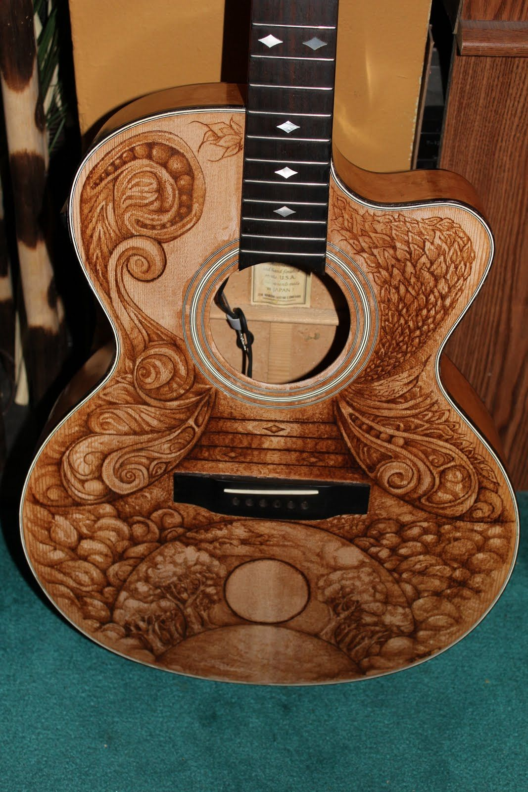 Wood Burning Guitars Google Search Picture Of How To Make A Circuit Board Guitar Pick