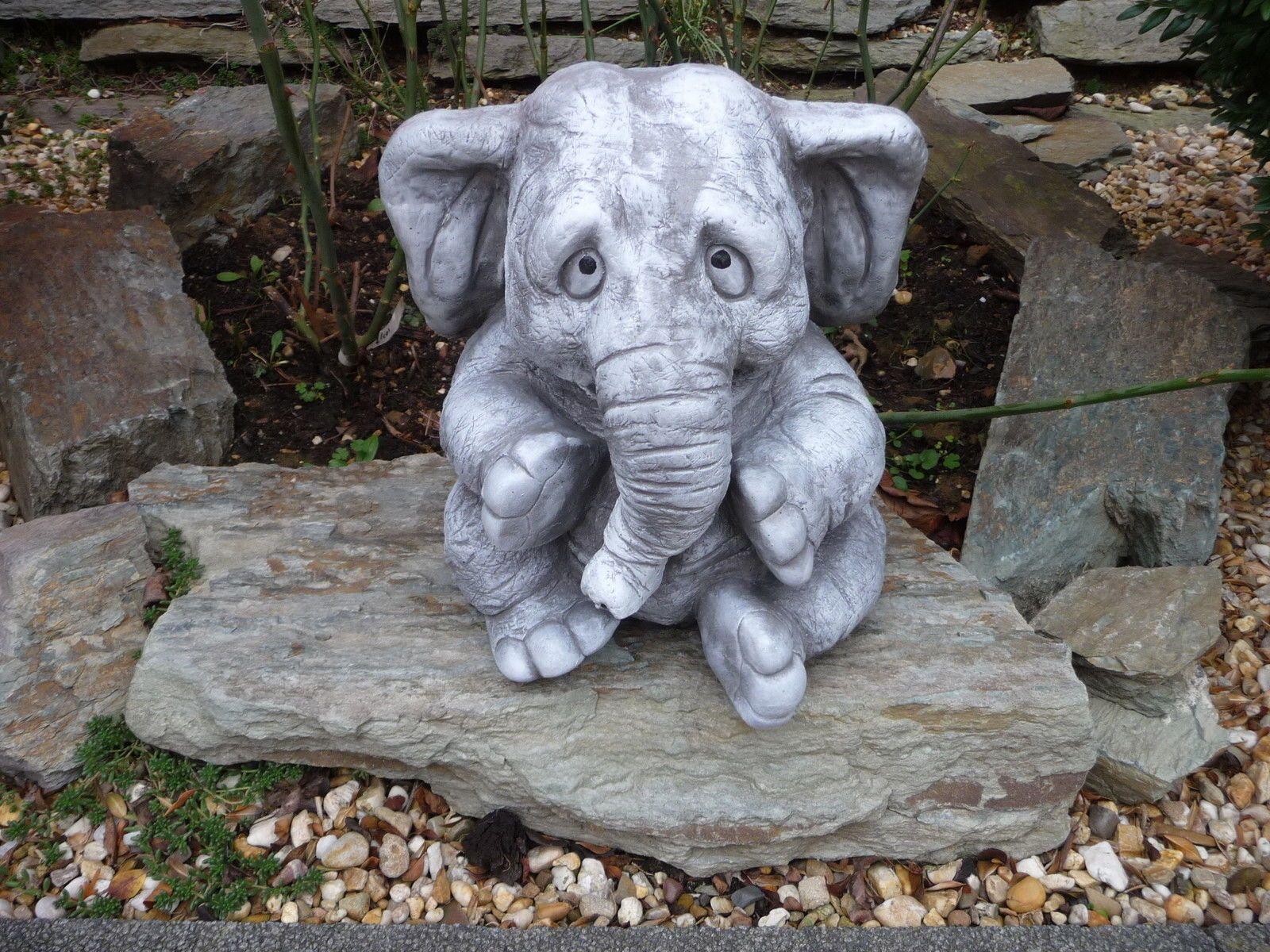 Steinfiguren Garten elefant steinfigur tier figuren garten deko gartenfiguren elefanten