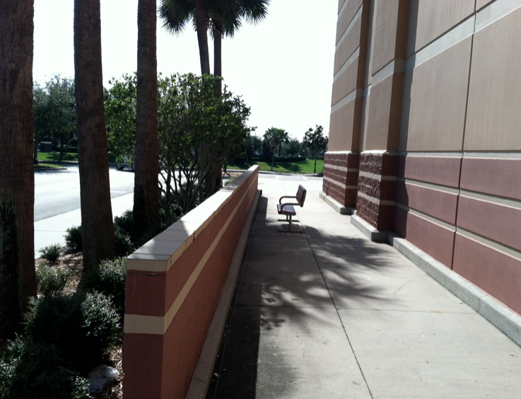 TheDailyCity com: The Saddest Bench in Orlando   Target at