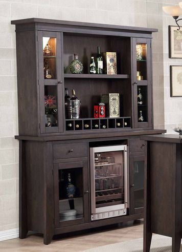 Beau Lexington Bar Back Bar W/ Hutch Top | E.C.I. Furniture | Home Gallery Stores