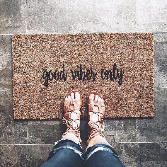 Made To Order Good Vibes Only Doormat Door Mat