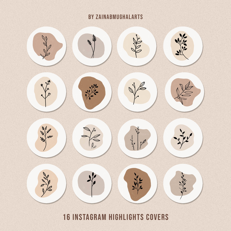 Instagram Highlight Botanical Icons   Instagram Ic