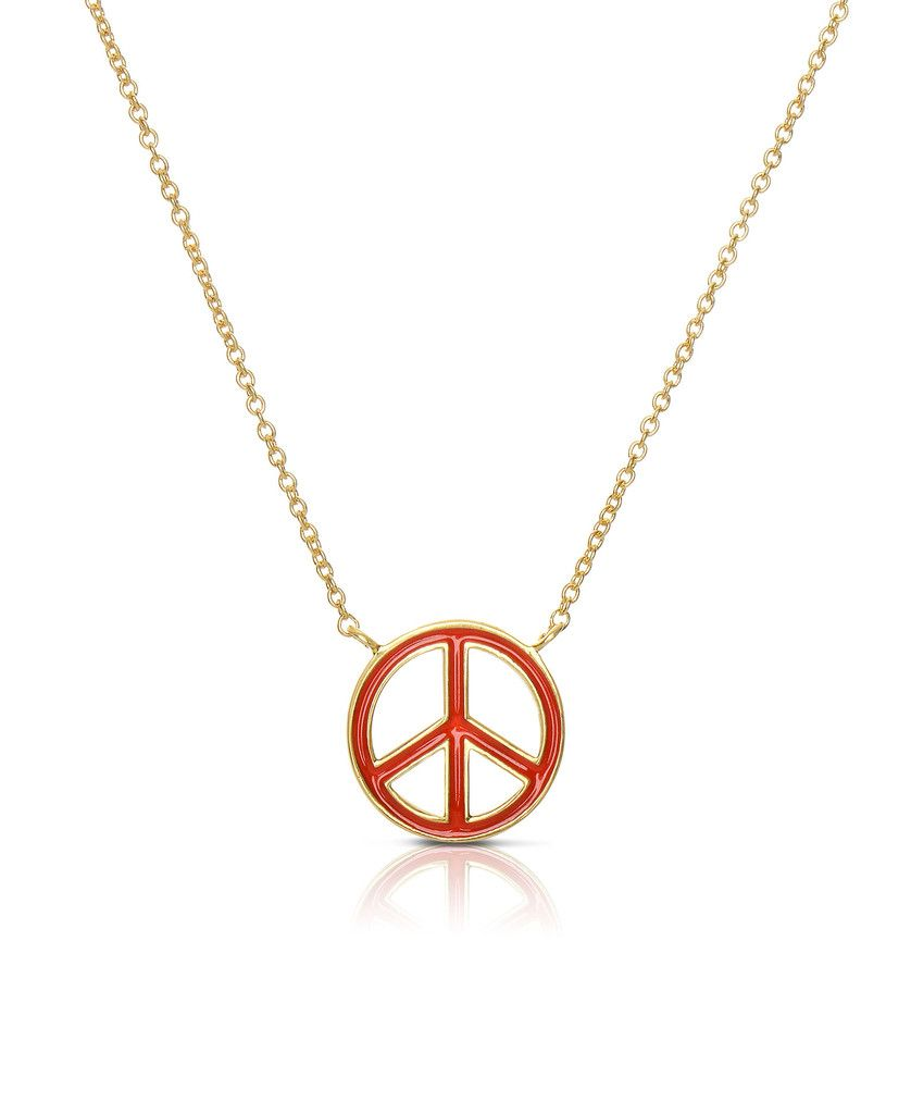 Peace Sign Necklace – Lily Nily