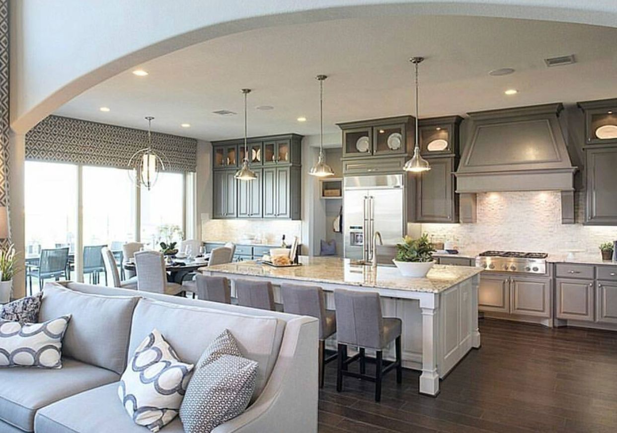 Great Layout Open Concept Kitchen Living Room Open Kitchen And Living Room Living Room Dining Room Combo