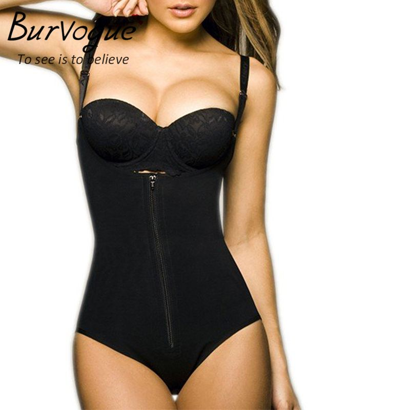 5d7029d7153 Burvogue Clips or Zip Full Body Shaper Women Waist Trainer Slimming  Shapewear Butt Lifter Tummy Control Waist Shaper Underwear - MISS LADIES