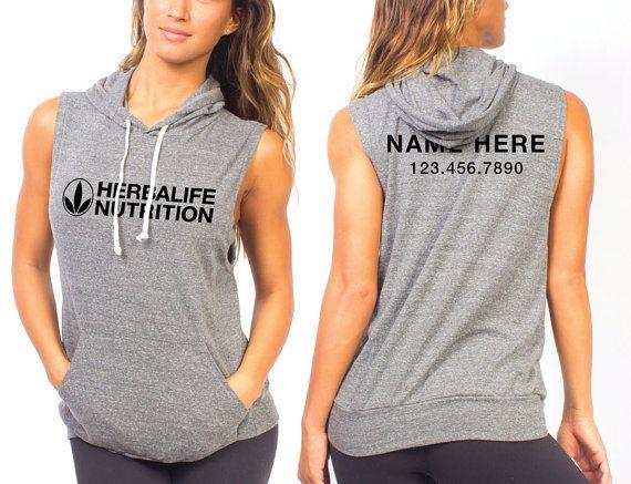 Custom Herbalife Nutrition Sleeveless Hoodie By Designgnome Herbalife Clothing Herbalife Herbalife Nutrition