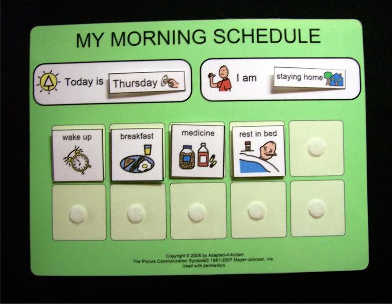 school morning daily schedule 32 pecs autism routine aac pinterest autism schedule and. Black Bedroom Furniture Sets. Home Design Ideas