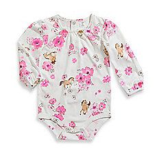 image of Carhartt® Long Sleeve Bodysuit in Pink Floral with Horses