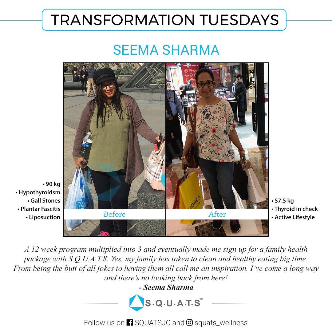Seema Sharma shed over 30 kgs following quantified nutrition