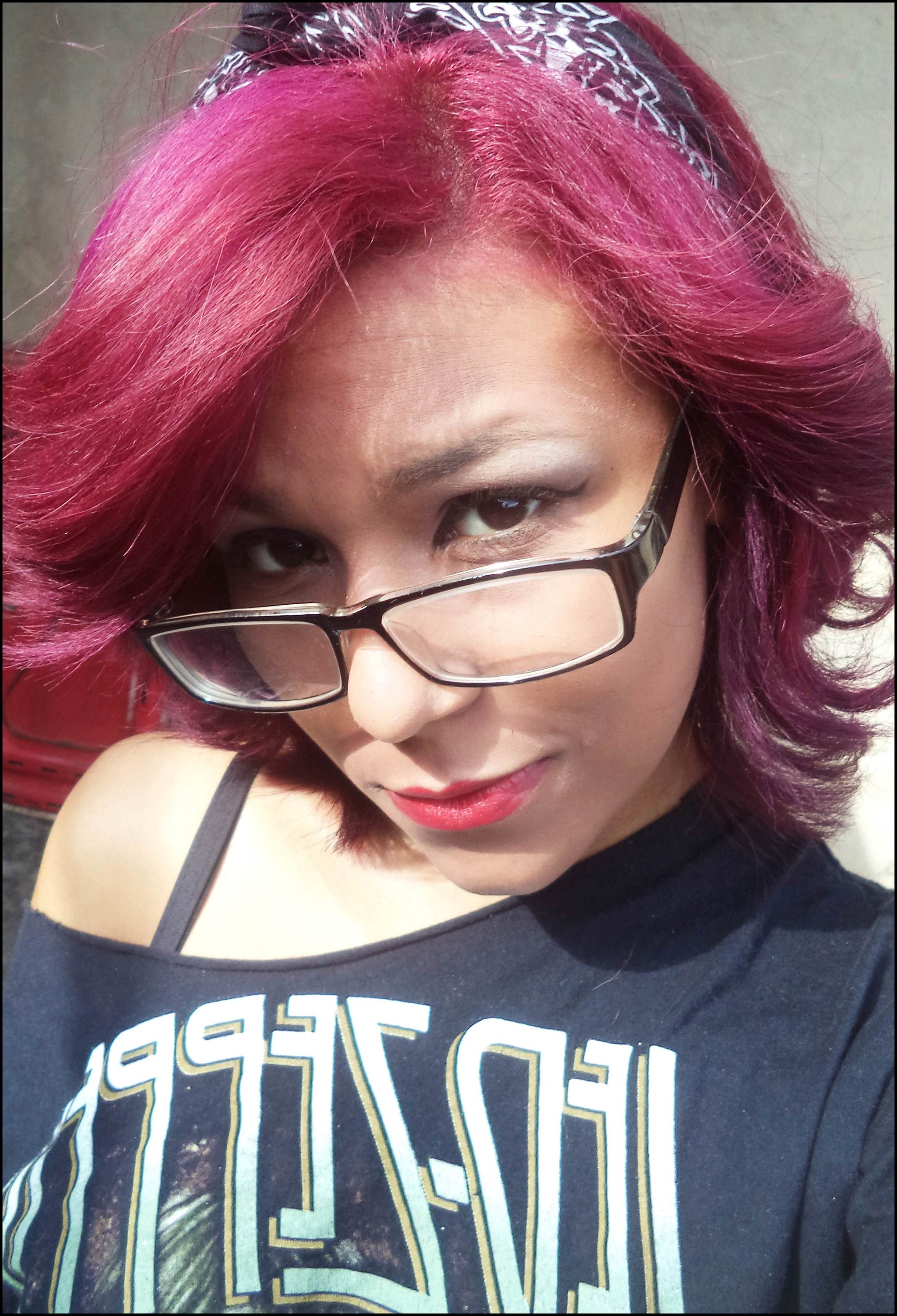 purple hair ;)