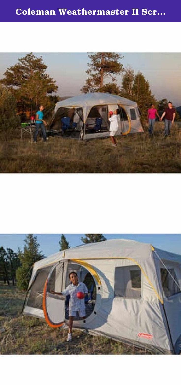 Coleman Weathermaster II Screened 10 Person 16 X 10 Tent with Hinged Door and Autoroll Windows 7 Feet Tall and Fits 4 Queen Air Beds. : tents with hinged doors - memphite.com