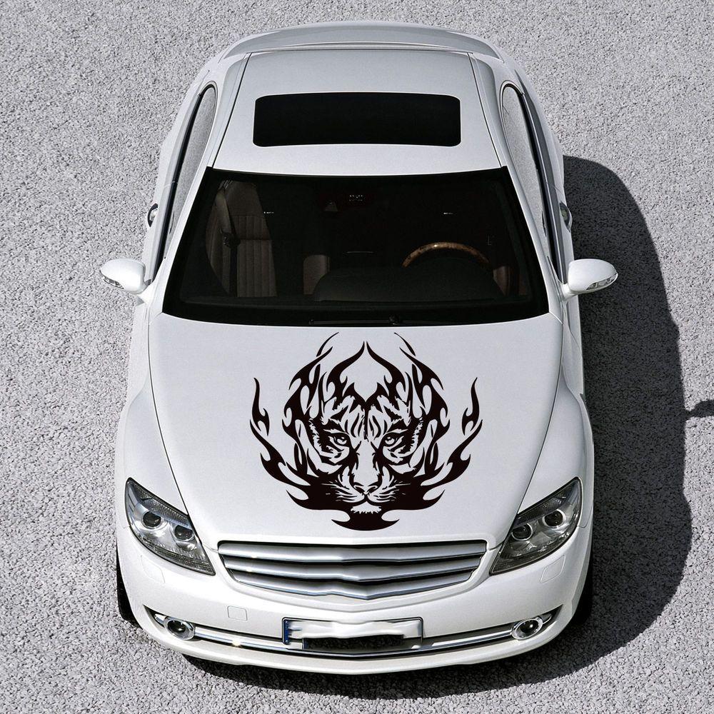 CAR HOOD VINYL STICKER DECALS GRAPHICS DESIGN ANIMAL TRIBAL TIGER WILDCAT SV4766