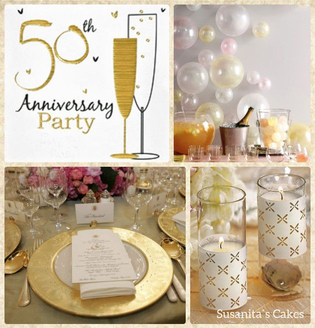 Ideas para decorar un aniversario de bodas de oro mas - Ideas para decorar fiestas ...