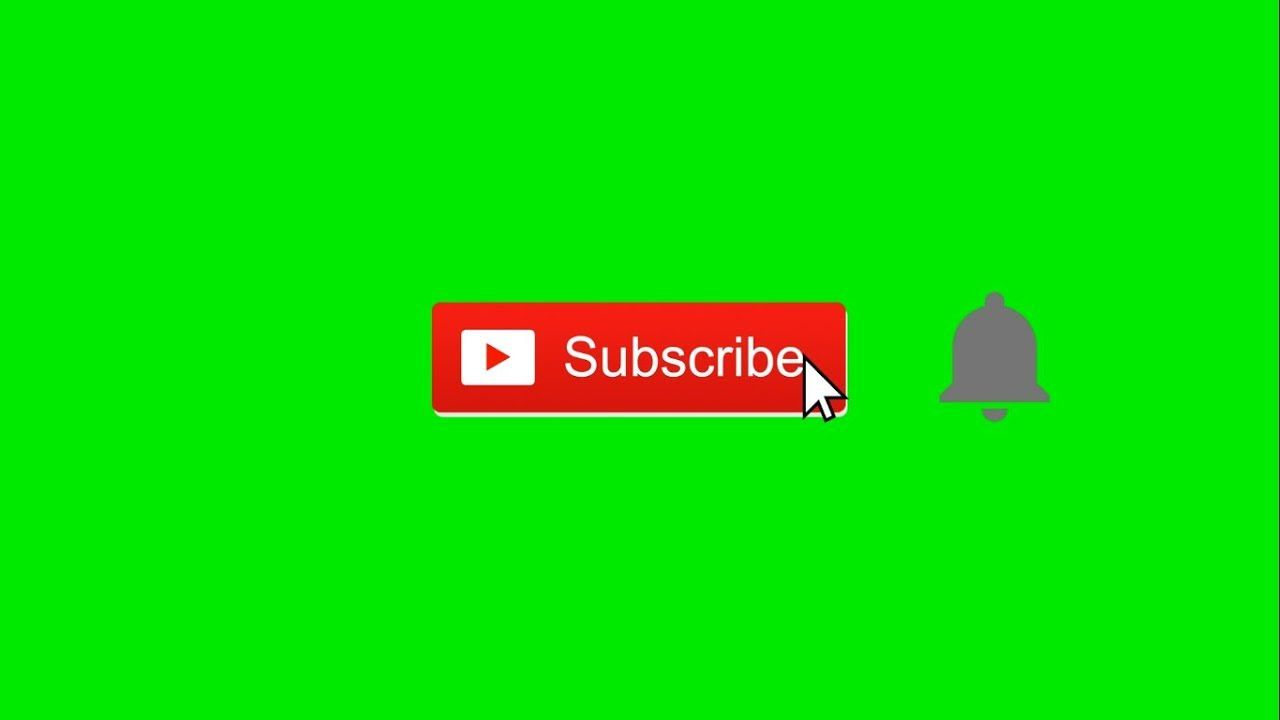 Subscribe And Notifications Bell Animation Overlay On Green Screen
