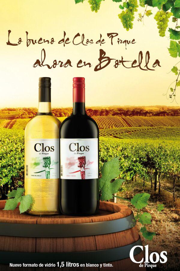 Vino Clos de Pirque  tinto y blanco ,Chile