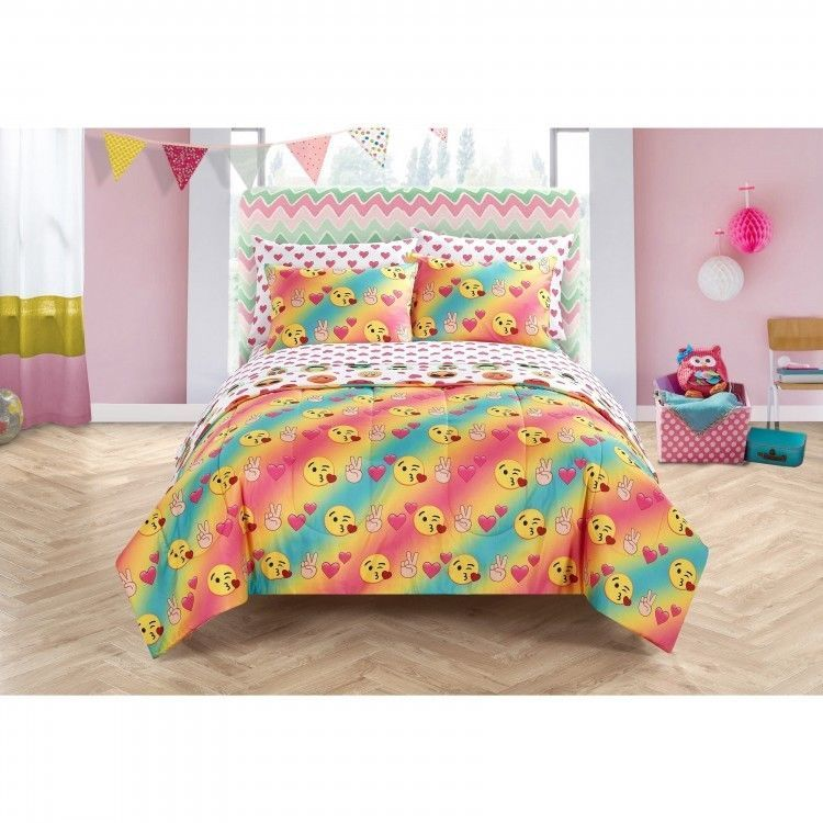 Kids Bedding Set Queen Child Bed In A Bag 7 Piece Sheets Comforter Fitted  New