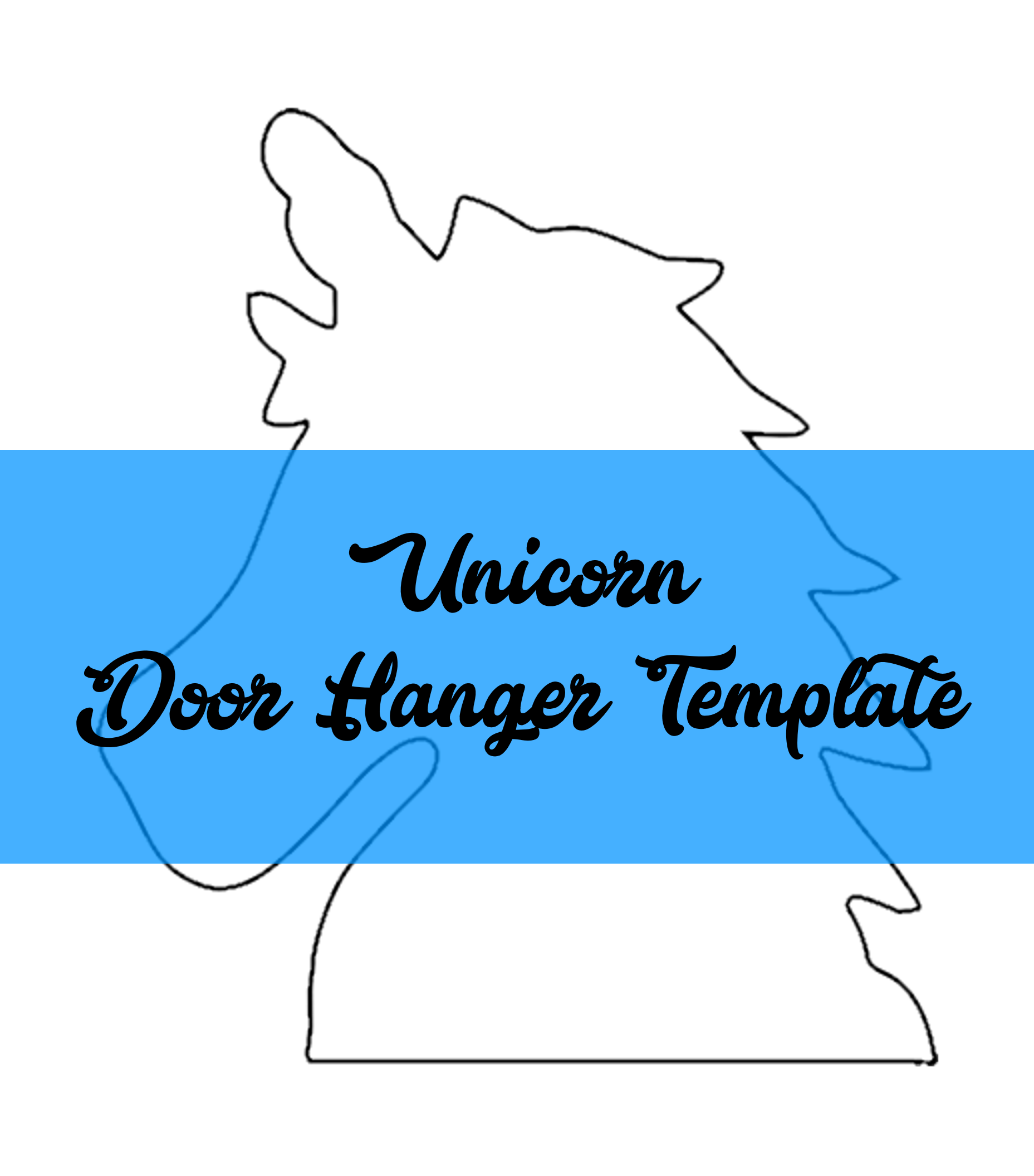 Unicorn Door Hanger Template Door Hanger Templates Pinterest