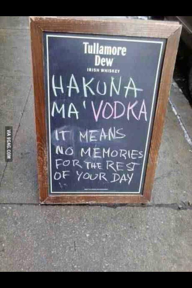 Another fun song lyric / alcohol pun combo | Lifes no good