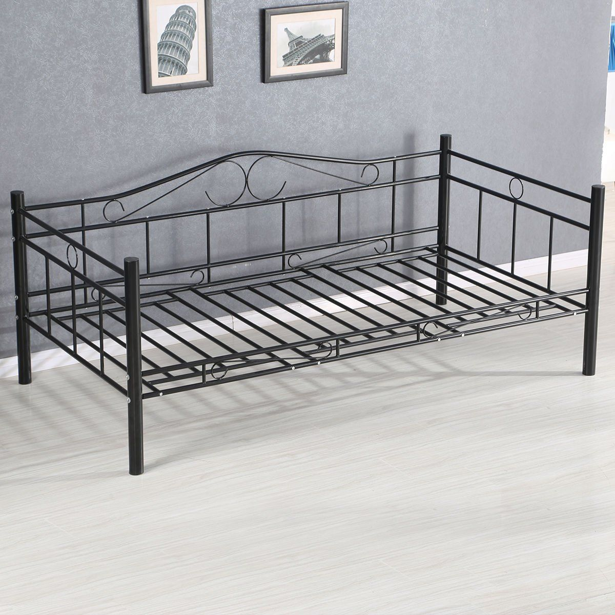 Giantex Twin Size Daybed Frame Metal Sofa Bed Solid Support With