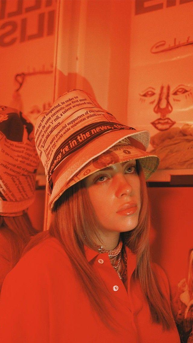 Billie Eilish In 2020 Billie Orange Aesthetic Billie Eilish