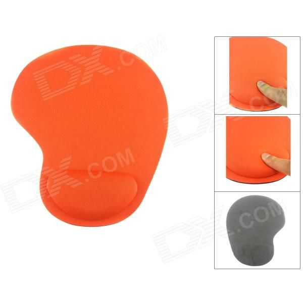 Color: Orange + Black; Brand: N/A; Quantity: 1 Set; Shade Of Color: Orange; Material: Memory cotton; Packing List: 1 x Mouse pad; http://j.mp/Yr9Lef