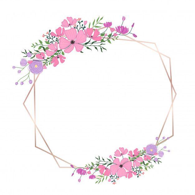 Floral Frame For Wedding Invitation And Greeting Card Design Floral Border Design Floral Logo Design Floral Logo