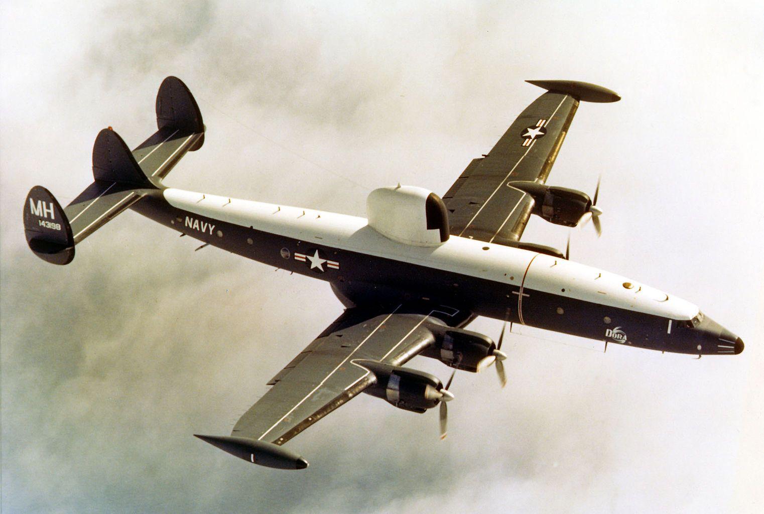 WC121N of VW4 Hurricane Hunters in 1967 Us navy