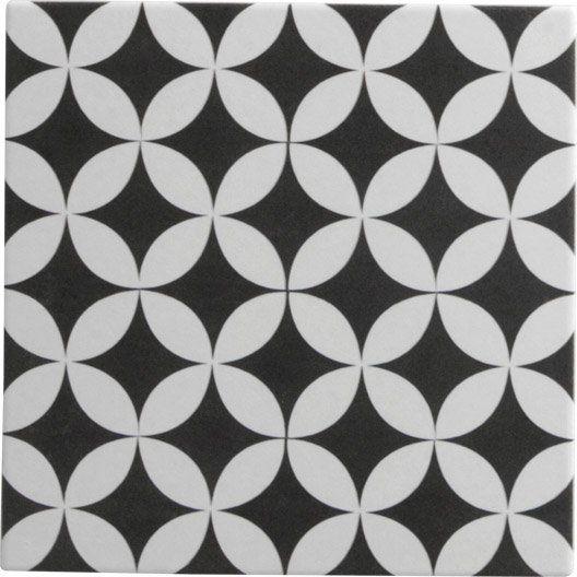 Leroy Merlin Carrelage Sol Et Mur Noir Blanc Effet Ciment Dement L