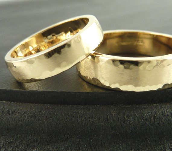 In white gold... Gold Wedding Band Ring SET of TWO 14k Yellow by someplaceelsewhere, $1180.00