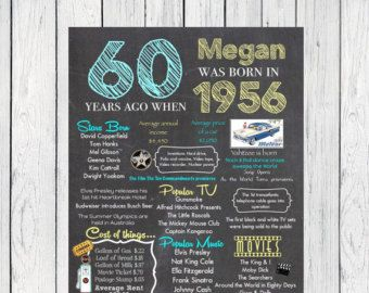 Personalized 60th Birthday Invitations 1957 Events Digital File