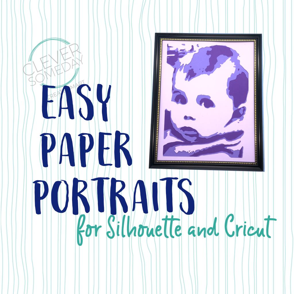 Easy Paper Portraits Cricut, Paper cutout, Silhouette