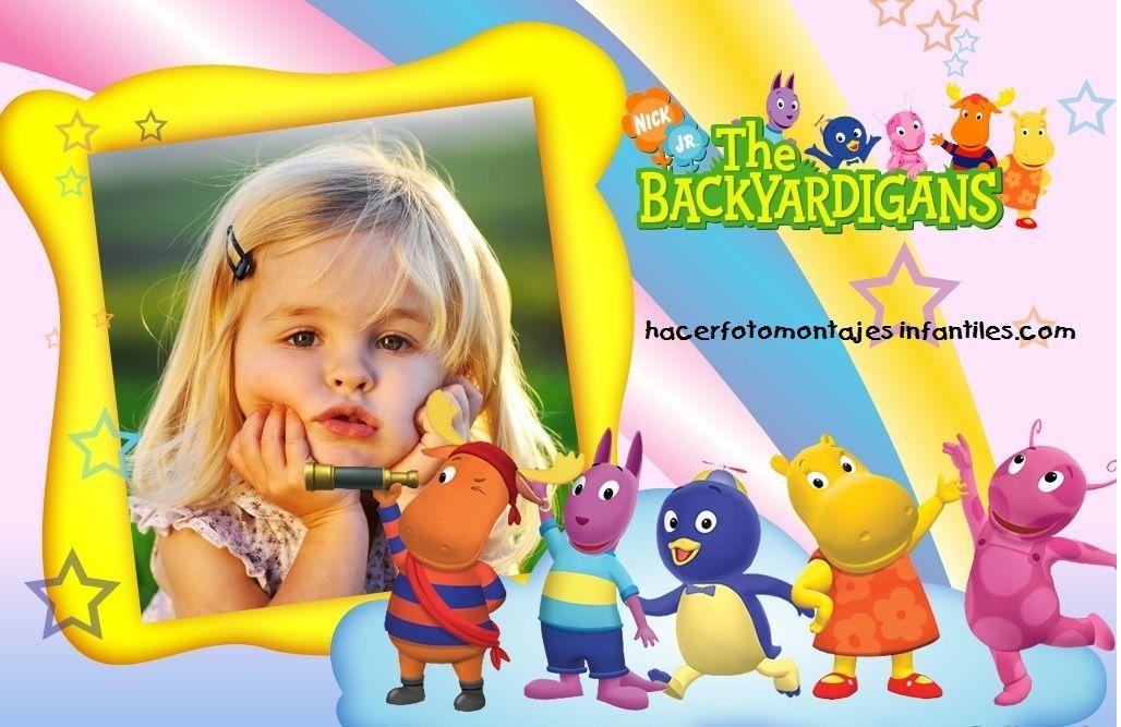 Fotomontaje De Backyardigans Invitaciones De Cumpleaños