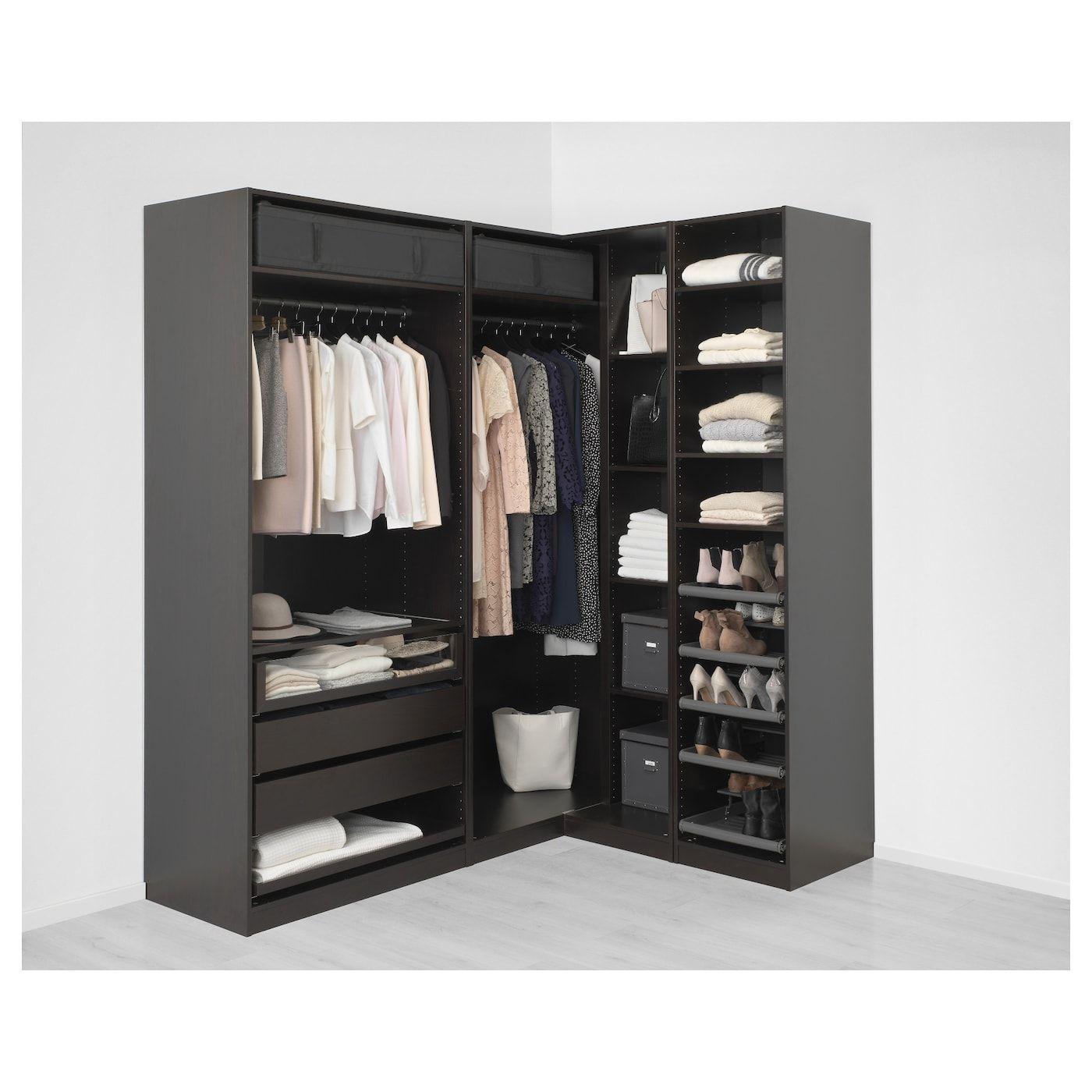 Pax Corner Wardrobe Black Brown Undredal Undredal Glass 82 3 4