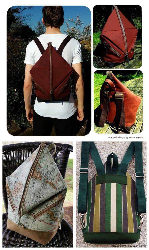 Andrea\'s Rucksack in 2 sizes   Nähen, Rucksäcke und Tasche nähmuster