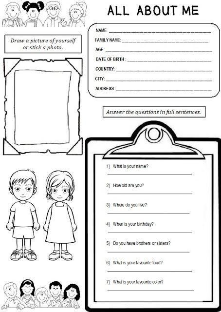 Enjoy Teaching English All About Me Worksheet My Blog