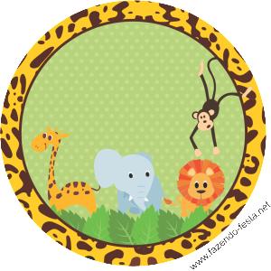 Kit Festa Safari Completo Para Editar E Imprimir Gratis Festa