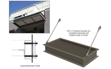 Crl Cancs1c Aluminum And Steel Canopies Steel Canopy Metal Awning Canopy