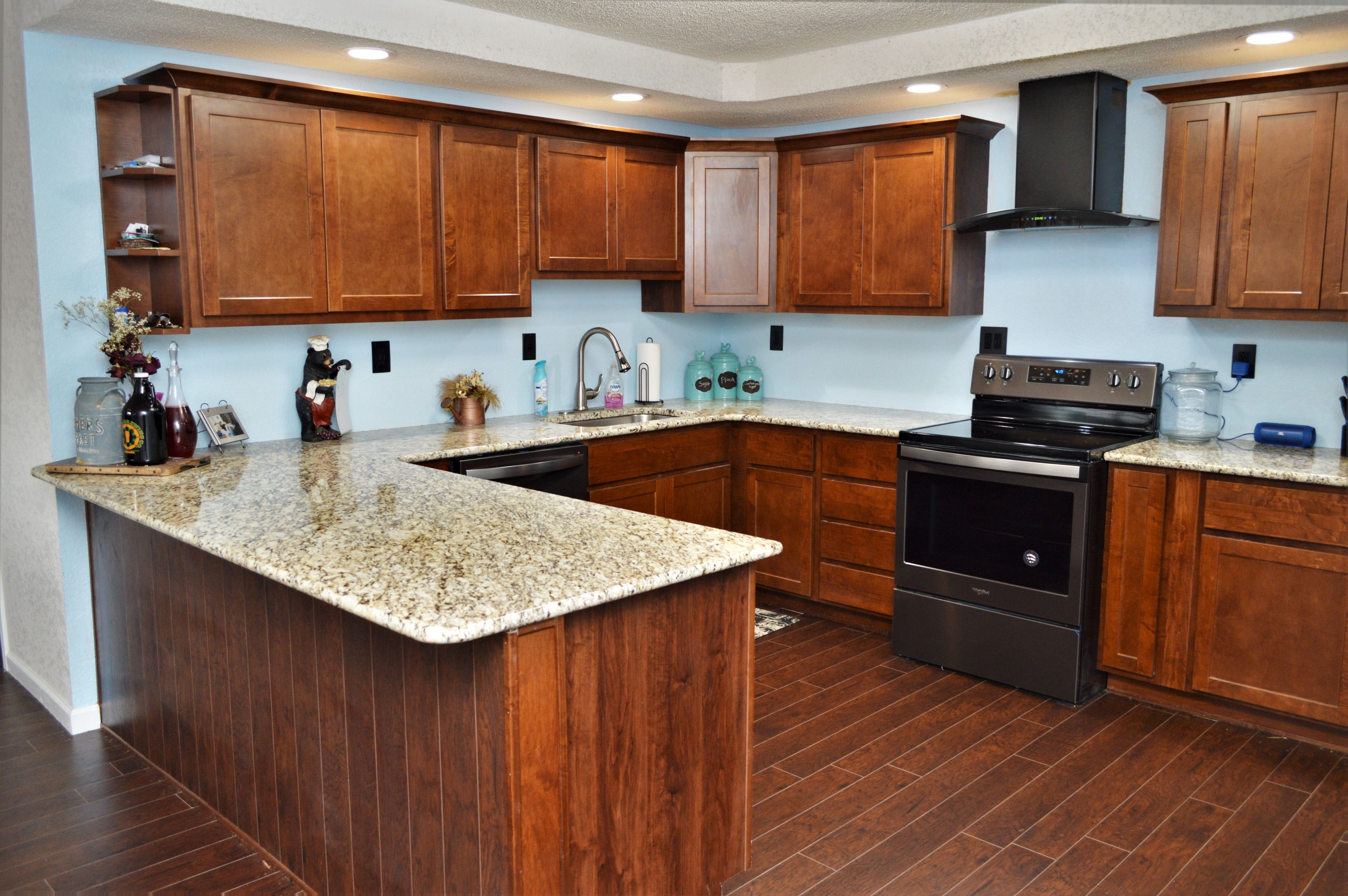 Bailey's Cabinets, Granite counter top, Bullnose edge ... on Best Granite Color For Maple Cabinets  id=75789