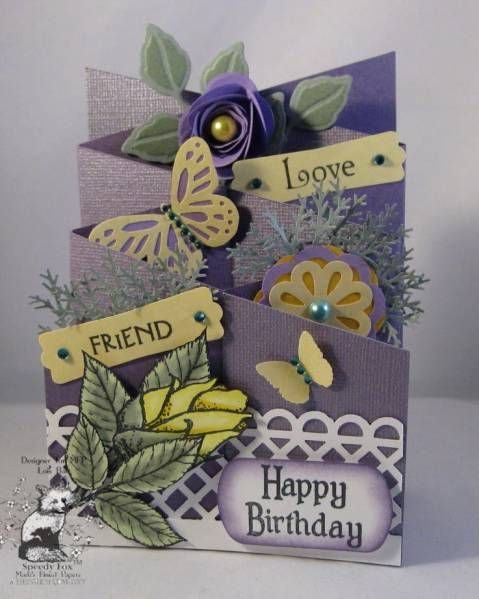 Pin By Monica Soto On Paper Stuff Cascading Card Cards Handmade Shaped Cards