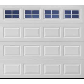 Reliabilt 8 X 7 Insulated Garage Door With Stockton Windows Aluminum Garage Doors Single Garage Door White Garage Doors Garage Door Windows