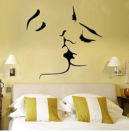 Amazon.com : 1MATCH Kiss Wall Murals for Living Room Bedroom Sofa ...